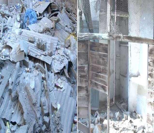 दिलीप कुमार यांचे पेशावर येथील वडिलोपार्जित घर पूर्णपणे कोसळले आहे. - Divya Marathi