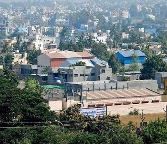 नगर औद्योगिक वसाहतीचे (एमआयडीसी) छायाचित्र. - Divya Marathi