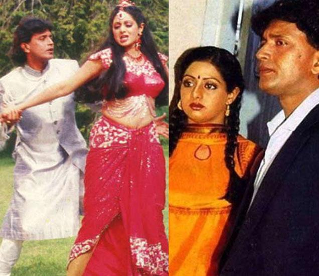 मिथुन आणि श्रीदेवी. - Divya Marathi