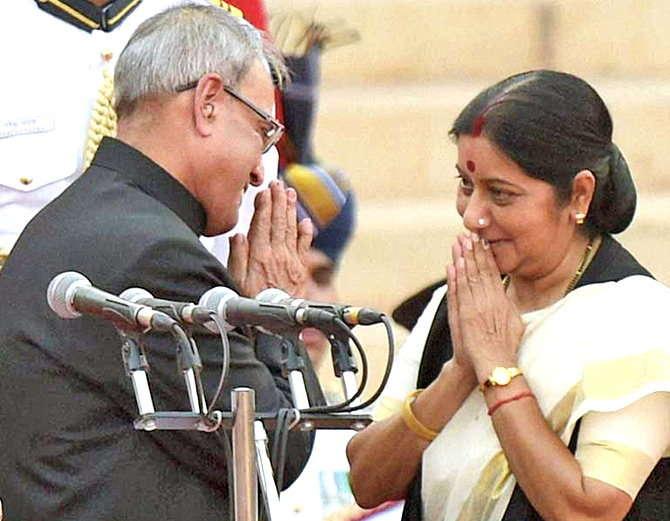 सुषमा स्वराज यांनी राष्ट्रपती पदाच्या उमेदवार असण्याची बाब नाकारली आहे. (संग्रहित फोटो) - Divya Marathi