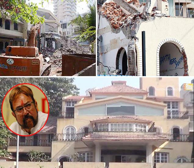 राजेश खन्नांचा बंगला तोडून येथे नवीन इमारत उभारणीचे काम सुरु झाले आहे. - Divya Marathi