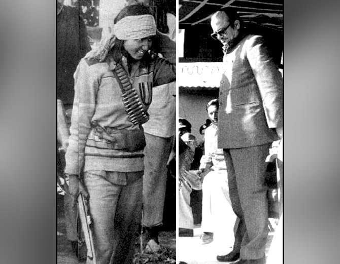 फुलन देवीने मध्य प्रदेशचे तत्कालिन मुख्यमंत्री अर्जुनसिंग यांच्यासमक्ष आत्मसमर्पण केले होते. - Divya Marathi