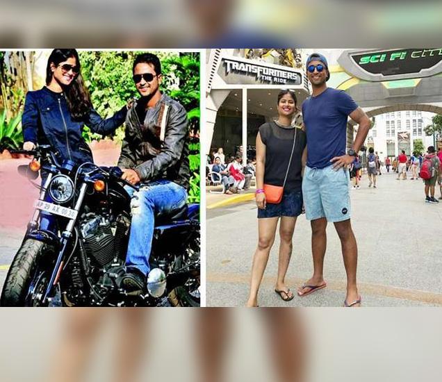 आपल्या बाइकसोबत प्रज्ञान आणि पत्नी... - Divya Marathi