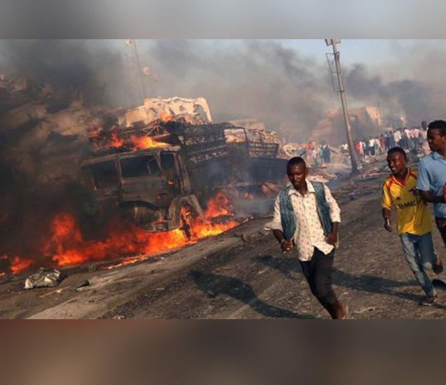 सोमालियाच्या इतिहासातील हा सर्वात मोठा दहशतवादी हल्ला आहे. - Divya Marathi