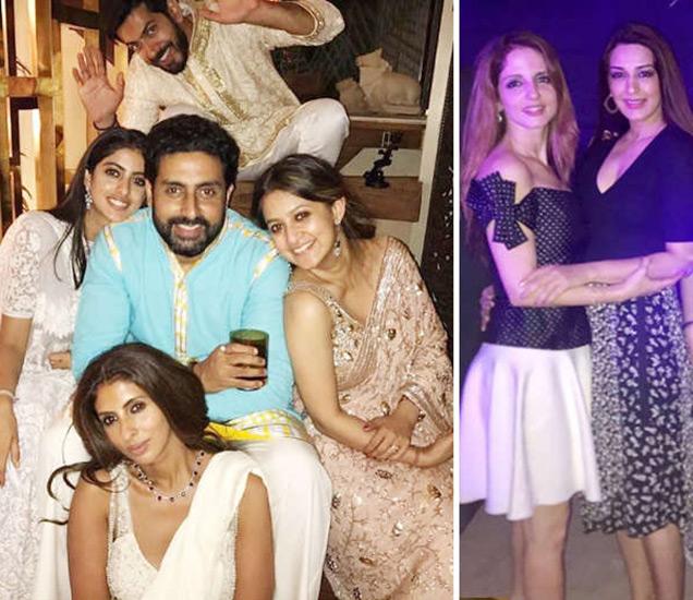 अबू जानी आणि संदीप खोसला यांच्या दिवाळी पार्टीत पोहोचलेला, अभिषेक बच्चन, नव्या नवेली, श्वेता नंदा, सुझैन खान, सोनाली बेंद्रे आणि इतर. - Divya Marathi
