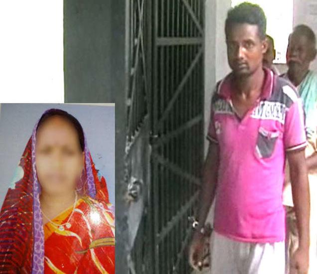 मृत महिला व आरोपी. - Divya Marathi