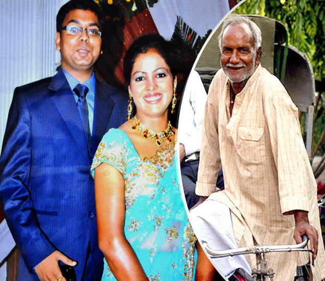 डावीकडून IAS गोविंद, त्यांची पत्नी IPS चंदना आणि नारायण जायसवाल. - Divya Marathi