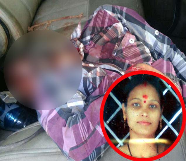 कारमध्ये दीपकचा मृतदेह. इन्सेट त्याची पत्नी. - Divya Marathi