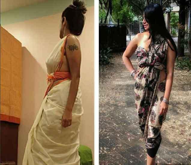 ब्लाउज न घातलेल्या महिलांचे फोटो व्हायरल होत आहेत. - Divya Marathi