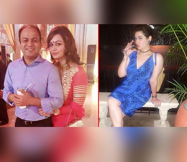 विनोद सहवाग आणि पत्नी मीनाक्षी... - Divya Marathi