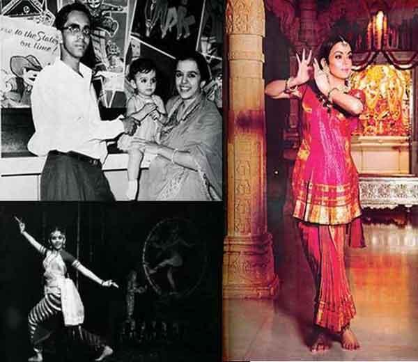 आई-वडिलांच्या कुशीत नीता (डावीकडे, वर), भारतनाट्यम् करताना नीता (डावीकडे, खाली), नीताचा आताचा फोटो (उजवीकडे) - Divya Marathi