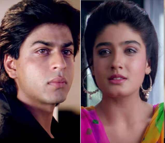 शाहरुख खान व रवीना टंडन. - Divya Marathi