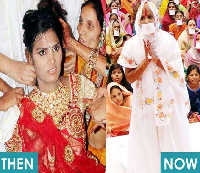 साध्वी बनण्यापूर्वीचा आणि नंतरचा दिपिकाचा फोटो. - Divya Marathi