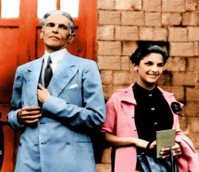 जिना आणि त्यांची मुलगी दिना. - Divya Marathi