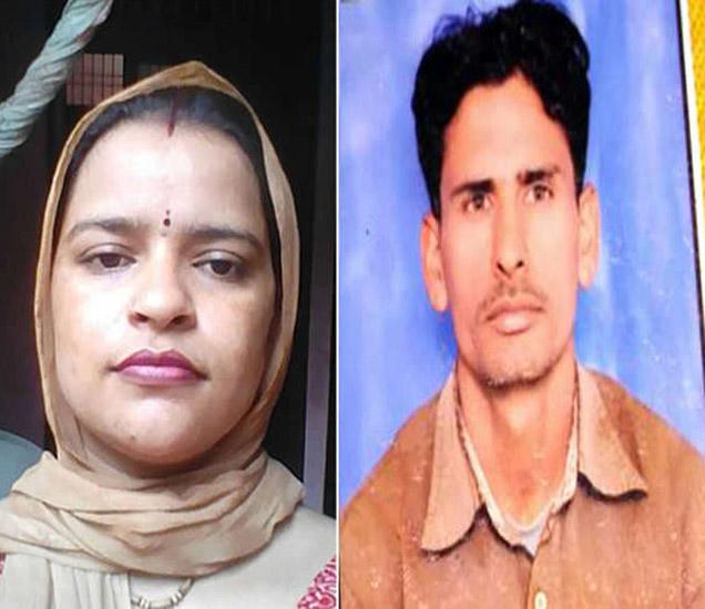 आरोपी महिला नीरू व तिचा मृत पती भूषण. तिने प्रियकरासह मिळून भूषणचा खून केला. - Divya Marathi