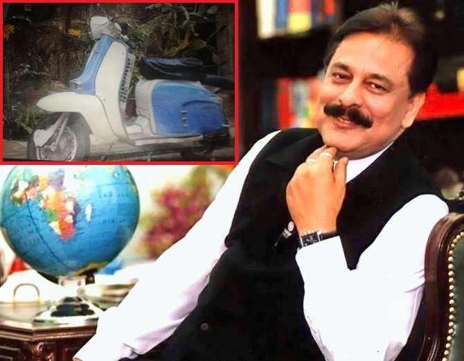 सहारा समुहाचे अध्यक्ष सुब्रतो रॉय कधीकाळी स्कुटरवर बिस्किटे विकत होते. - Divya Marathi