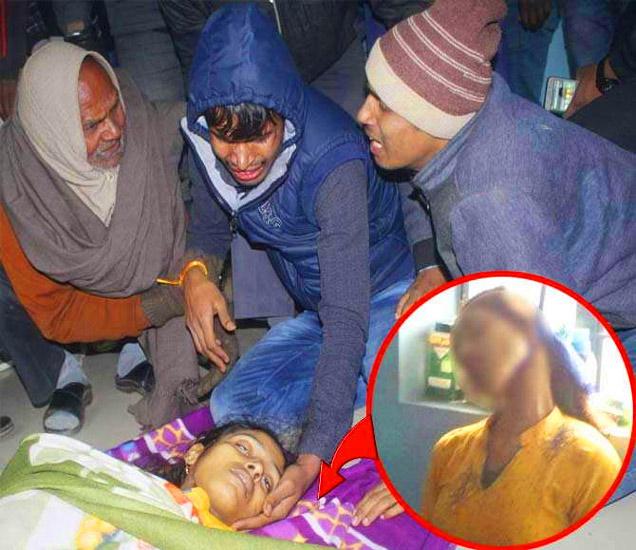 बहिणीच्या मृतदेहाजवळ आक्रोश करताना भाऊ. इनसेट बहिणीचा मृतदेह. - Divya Marathi