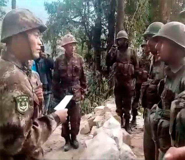 डिसेंबरच्या शेवटच्या आठवड्यात चीनी सैनिकांनी अरुणाचल प्रदेशातील तुतिंग भागात घुसखोरी केली होती. - Divya Marathi