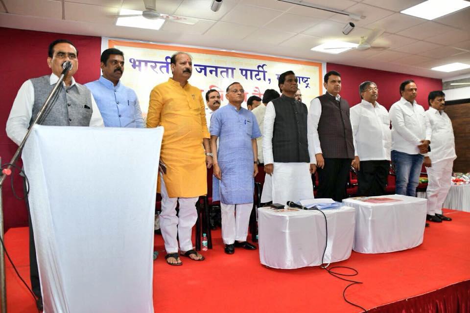 लोकसभा-विधानसभेच्या निवडणुकांच्या कामाला लागा अशा सूचना फडणवीस यांनी दिल्या. - Divya Marathi