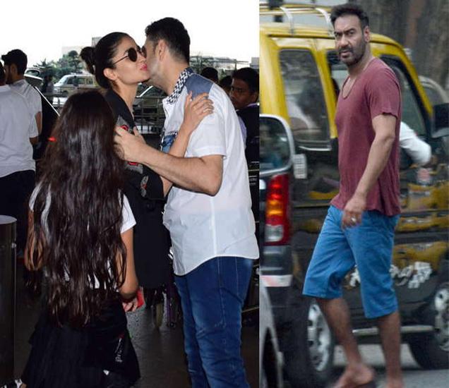 डब्बू रतनानीला किस करताना आलिया भट, घराबाहेर स्पॉट झाला अजय देवगण - Divya Marathi
