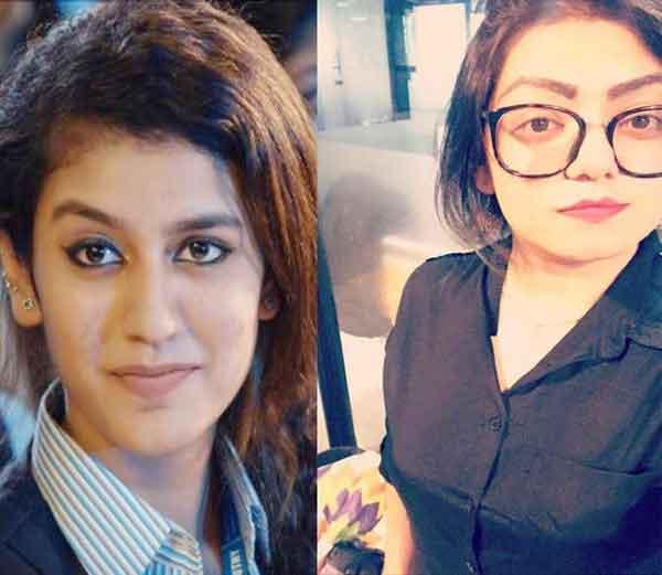 प्रिया प्रकाश (डावीकडे) आणि आपल्या फेसबुक पोस्टवरून व्हायरल झालेली ऐश्वर्या (उजवीकडे) - Divya Marathi