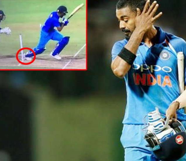 केएल राहुल 18 धावा काढून हिट विकेटवर बाद झाला. - Divya Marathi