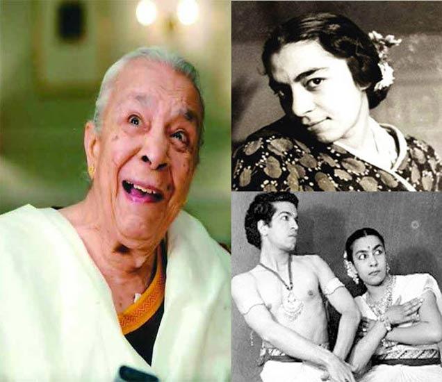 (फोटोत डावीकडे - जोहरा सहगल, उजवीकडे वर - जोहरा सहगल, खाली - पती कामेश्वर नाथसोबत जोहरा सहगल) - Divya Marathi