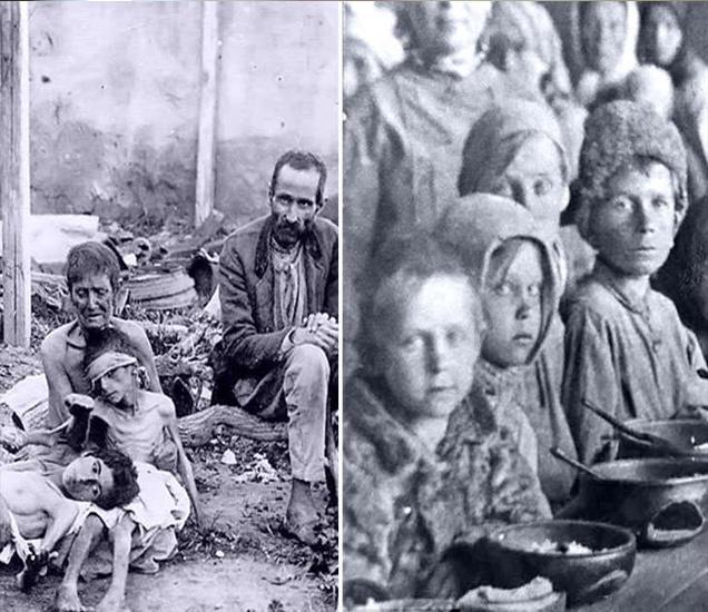 पहिल्या जागतिक महायुद्धानंतर रशियात भयाण दुष्काळ पडला होता. - Divya Marathi