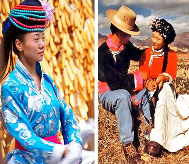 चीनच्या मोसुओ ट्राइब्सच्या महिला. - Divya Marathi