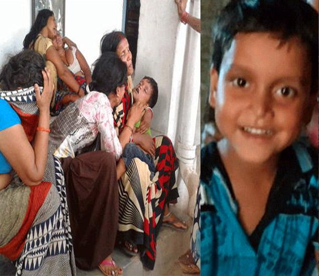 मृत चिमुरड्याच्या आईने असा आकांत केला. - Divya Marathi