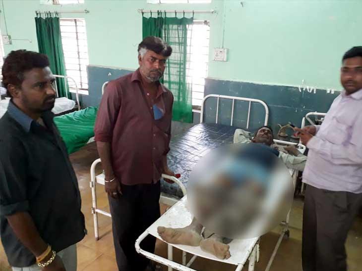 जखमी  गफ्फार हमदू पटेल (वय-50, रा. बोरावल गेट परिसर) - Divya Marathi