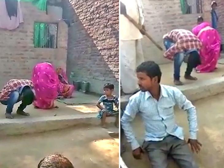 गावकऱ्यांसमोर प्रेमी युगुलाला बनवले कोंबडा, 15 दिवसानंर घरी परतली तर पंचायतने सुनावली शिक्षा देश,National - Divya Marathi