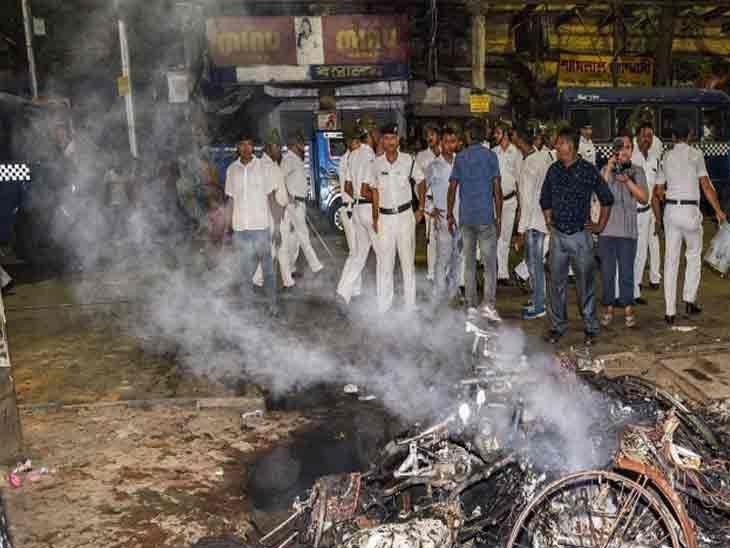 पश्चिम बंगालमध्ये पुन्हा भडकला हिंसाचार आणि जाळपोळ; नागरिकांनी केला तृणमूलवर मतदान करण्यापासून रोखल्याचा आरोप... देश,National - Divya Marathi