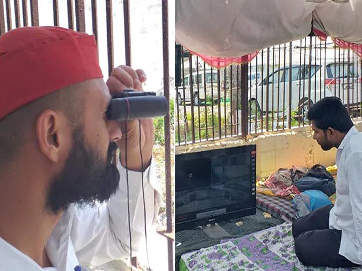 Mission EVM! ईव्हीएमवर नजर ठेवण्यासाठी विरोधी पक्षांनी स्ट्राँग रुमबाहेर ठोकला तंबू, दूर्बीण-कॅमेऱ्यांच्या माध्यमातून टेहळणी|देश,National - Divya Marathi