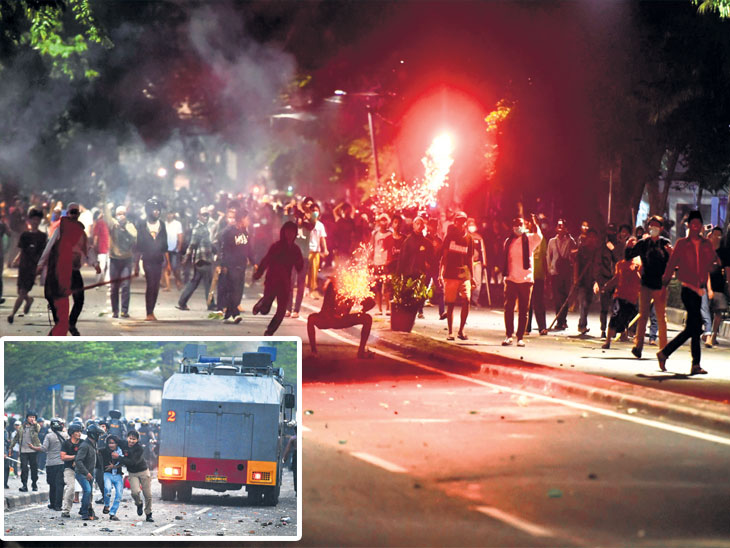 इंडोनेशिया : पराभवानंतर प्रतिस्पर्धी समर्थकांचा उपद्रव, ६ मृत्यू; एक्झिट पोल येताच विरोधी नेत्याने हिंसाचाराची धमकी दिली विदेश,International - Divya Marathi