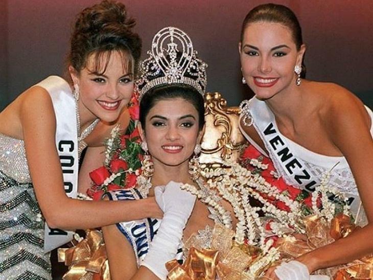 सेलिब्रेशन : सुष्मिता सेनला फॅमिलीलने पुन्हा चढवला विजेत्यांचा मुकुट, 25 वर्षांपूर्वी बनली होती मिस युनिव्हर्स  - Divya Marathi