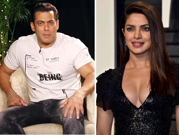भारत : सलमानने साधला प्रियांका चोप्रावर निशाणा, म्हणाला - 'चित्रपटात नसली म्हणून काय झाले, प्रमोशनमध्ये तर मदत करूच शकते ना'| - Divya Marathi