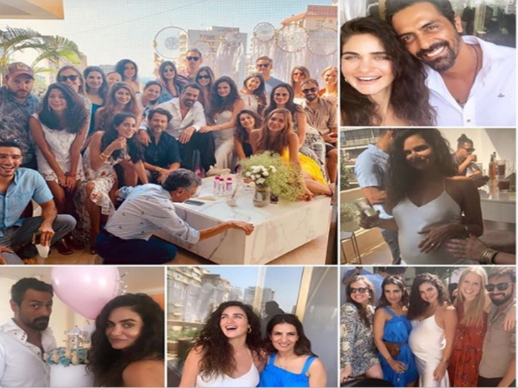 अर्जुन रामपालने प्रेग्नन्ट गर्लफ्रेंड गॅब्रिएलासाठी दिली बेबी शॉवर पार्टी, मुली महिरा आणि मायरा यादेखील पोहोचल्या| - Divya Marathi