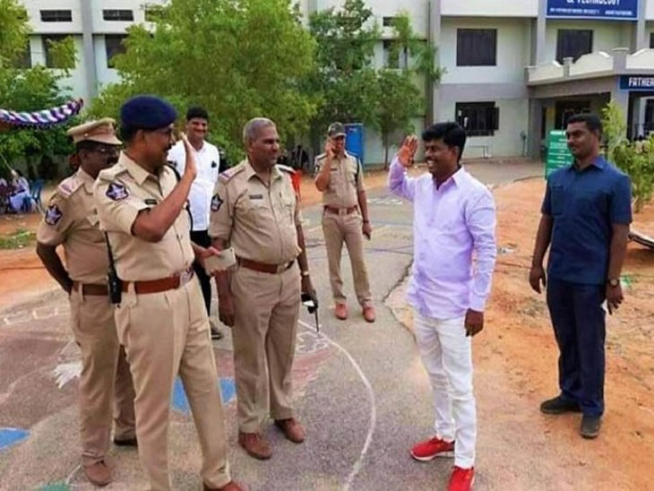 नोकरी सोडून पोलिस अधिकारी बनला खासदार, जुने सहकारी दिसताच आदराने ठोकला सॅल्यूट...|देश,National - Divya Marathi