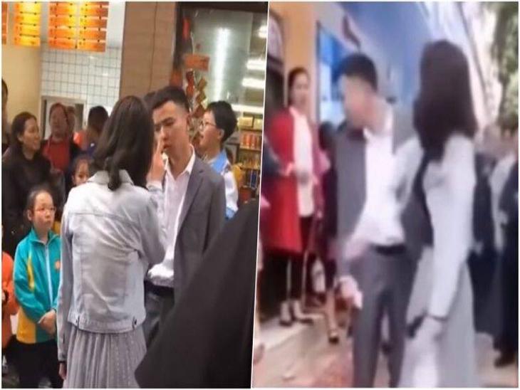बॉयफ्रेंडने स्मार्टफोन न घेऊन दिल्यामुळे चिडलेल्या गर्लफ्रेंडने भर रस्त्यात 52 वेळा लगावली कानशिलात, व्हायरल झाला व्हिडीओ|देश,National - Divya Marathi