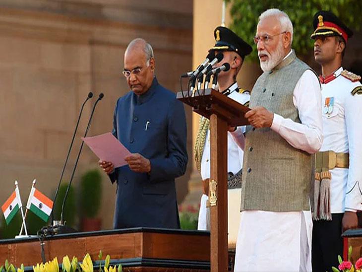 मोदी मंत्रिमंडळाचा शपथविधी : राष्ट्रपती भवनातील भव्य सोहळा,  या दिग्गजांची उपस्थिती|देश,National - Divya Marathi