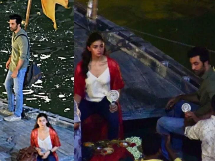 वाराणसीमध्ये चित्रपट 'ब्रह्मास्त्र 2' च्या शूटिंगदरम्यान झाला गोंधळ, बाउंसर्स आणि सामान्य जनतेमध्ये झाले वाद|देश,National - Divya Marathi