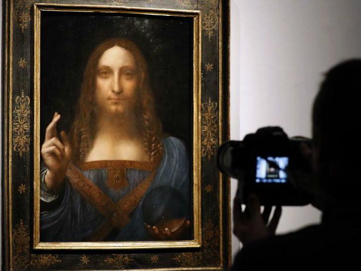 सौदीच्या प्रिंसने खरेदी केली लिओनार्डो दा विंचीची जगातील सगळ्यात मगागडी पेटिंग 'सल्वाटोर मुंडी', किंमत तब्बल 3125 कोटी रूपये| - Divya Marathi