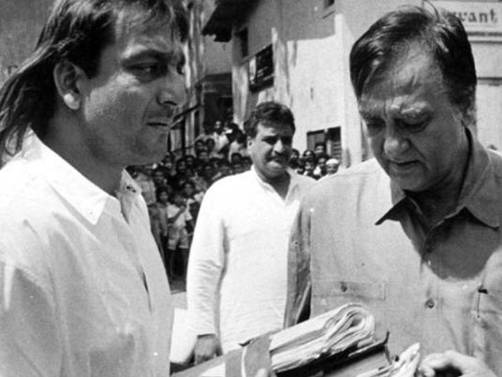 संजय दत्तने आपल्या प्रोडक्शन बॅनरमध्ये बनवलेला पहिला मराठी चित्रपट 'बाबा' सुनील दत्त यांना केला समर्पित| - Divya Marathi