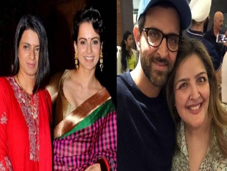 रंगोलीने केला दावा, मुस्लिम युवकाच्या प्रेमात आहे ऋतिकची बहीण सुनैना, त्यामुळे कुटुंबीय करत आहेत परेशान देश,National - Divya Marathi