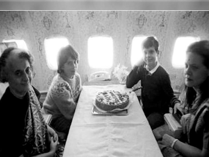 जेव्हा आजी इंदिरांनी विमानात साजरा केला होता राहुल गांधींचा बर्थडे, Photo झाला Viral|देश,National - Divya Marathi