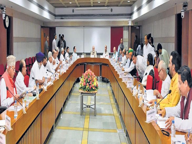 एकत्र निवडणूक, १४ पक्ष राजी, १६ असहमत; काँग्रेस चिडीचूप; मोदींनी ३९ पक्षांना बोलावले, आले २१च देश,National - Divya Marathi