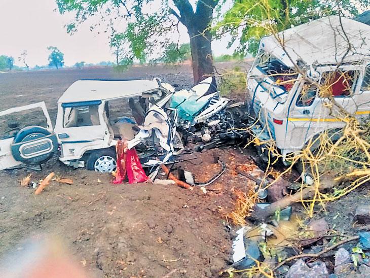 भीषण अपघात : कंटेनर-बोलेराेच्या अपघातात चौघे ठार; मृतांत चालक, दोन महिलांचा समावेश नागपूर,Nagpur - Divya Marathi