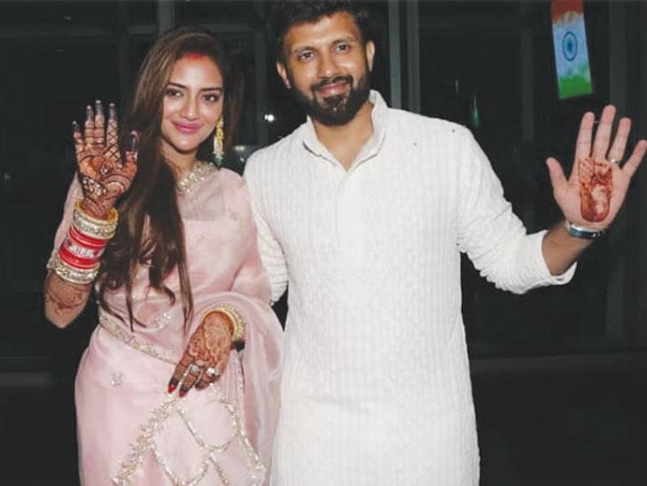 लग्नानंतर पतीसोबत भारतात परतली ही अभिनेत्री, एअरपोर्टवर झाले जोरदार स्वागत| - Divya Marathi
