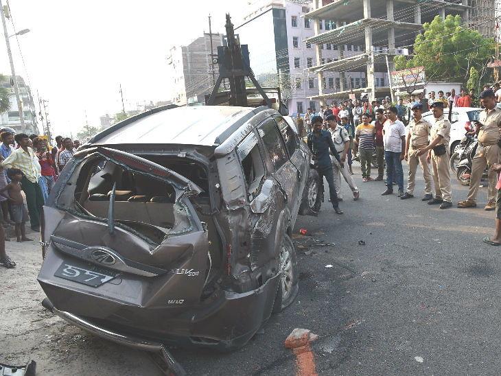 भरधाव SUV ने फुटपाथवर झोपणाऱ्या चिमुकल्यांना चिरडले, तिघांचा मृत्यू; संतप्त जमावाने ड्रायव्हरचा जीव घेतला|देश,National - Divya Marathi